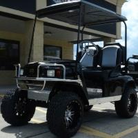 EZGO 36v Golf Cart Pds Black/silver w/2 Tone Seats