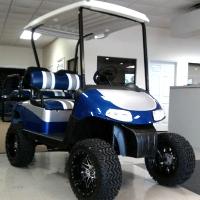 """EZ-GO Golf Cart 48 Volt Rxv Blue/silver 3 Tone Seats 6"""" Lift"""