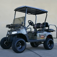 Ezgo Hunting Car Electric Camo Lifted Sasquatch 48 Volt Hunting Buggy