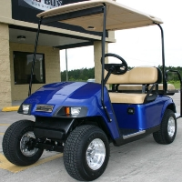 EZGO Pds 36v Blue Electric Golf Cart w/ Speed Chip