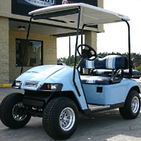 EZGO Pds 36v Baby Blue Electric Golf Cart w/ Speed Chip