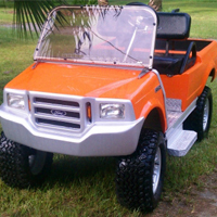 250F Truck Custom Club Car Golf Cart