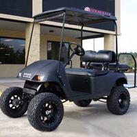 36v Matte Black EZ-GO Electric Golf Cart