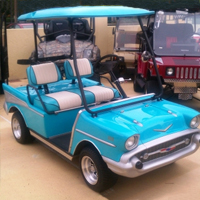 '57 Old Car Custom Club Car Golf Cart
