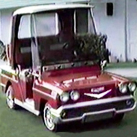 58' Old Car Custom Club Car Golf Cart