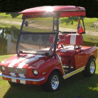 '65 Old Car Custom Club Car Golf Cart