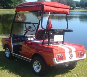 65 Old Car Custom Club Car Golf Cart