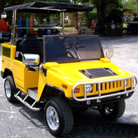 Gunner G2 Custom Club 48v Hummer H2 Car Golf Cart
