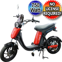 GIGABYKE GROOVE 48V 750 W Eco - Friendly Electric Moped Scooter Bike