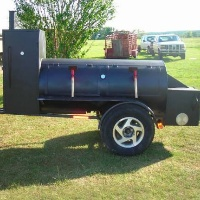 "Brand New 12'6"" BBQ Smoker Trailer"