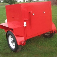 8' Custom BBQ Reverse Flow Barbecue Smoker With Trailer