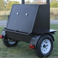 6' Custom BBQ Reverse Flow Barbecue Smoker With Trailer