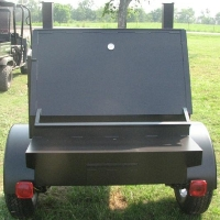 9' Custom BBQ Reverse Flow Barbecue Smoker With Trailer