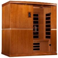 4 Person Infrared Sauna Dynamic Low EMF Carbon Far Infrared Sauna - Canadian Hemlock - Seville Edition - DYN-6410-01