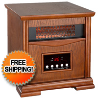 Dynamic Infrared Space Heater w/ Remote Control