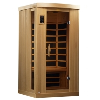 1-2 Person Sauna Carbon Far Infrared, Puretech Ultra Low EMF with 6 Carbon Tech Heaters & AUX, MP3 Hook Up
