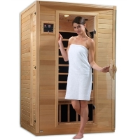 2 Person Sauna Carbon Far Infrared, Luxury Edition with 6 Carbon Tech Heaters & MP3 Hook Up