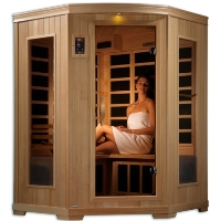 2-3 Person Admiral Far Infrared Sauna w/10 Carbon Tech Heaters