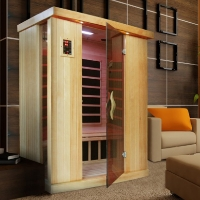 2 Person Avocet Low EMF Infrared Sauna with Carbon Heaters