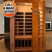 2 Person Waterbuck Low EMF Infrared Sauna with Carbon Heaters