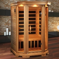 2-3 Person Infrared Sauna with 6 Carbon Heaters