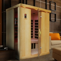 3 Person Bubalus Low EMF Infrared Sauna with Carbon Heaters