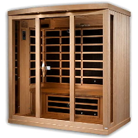 3-4 Person Near Zero EMF FAR Infrared Sauna - GDI-8040-01