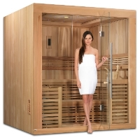 4-6 Person Sauna Traditional Steam Cedar, Oslo Edition - Built in FM Radio and Bluetooth Connection