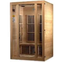 2 Person Luxury Sauna Carbon FAR Infrared - Canadian Hemlock - MP3 Auxiliary Connection and Speaker System