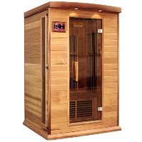 2 Person Sauna Carbon FAR Infrared Maxxus - Cedar - CD radio w/ FM and MP3 Auxiliary / SD and USB Connection