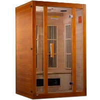 "Maxxus ""Aspen"" Infrared Sauna Dual Tech 2 person Low EMF FAR Sauna Canadian Hemlock - MX-K206-02S"