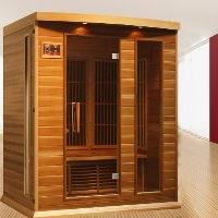 3 Person Maxxus Grand Infrared Carbon Sauna - Canadian Red Cedar