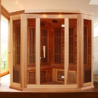 3 Person Maxxus Shelduck Infrared Carbon Sauna - Canadian Red Cedar