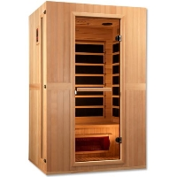"Maxxus ""Serenity"" Infrared Sauna Dual Tech 2 person Low EMF FAR Infrared Sauna Canadian Hemlock - MX-LS2-01"