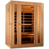 "Maxxus ""Trinity"" Infrared Sauna Dual Tech 3 Person Low EMF FAR Infrared Sauna Canadian Hemlock - MX-LS3-01"