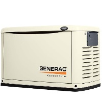 GENERAC GUARDIAN SERIES AIR COOLED 8KW STANDBY GENERATOR WITH 10-CIRCUIT SWITCH