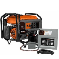 Generac Generator HomeLink 6500E, 6,500 Running Watts, Gas Portable Generator w/ Upgradeable Manual Transfer Switch