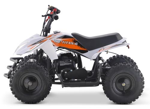 50cc Size Gas Atv Sport Quad Manual Pull Start - Titan With 40cc Engine