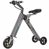250 Watt Portable & Foldable Light-Weight Electric GyroTricycle with Lithium-Ion Battery - GCY8X1GR