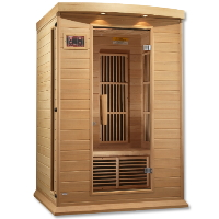 1-2 Person Maxxus Low EMF FAR Infrared Sauna Canadian Hemlock - MX-K206-01