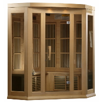 3-4 Person Maxxus Low EMF FAR Infrared Sauna Canadian Red Cedar - MX-K406-01