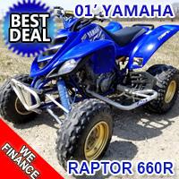 2002 Yamaha Raptor 660R Atv Four Wheeler Quad With New Tires!