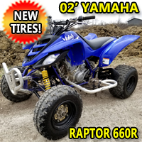 2002 Yamaha Raptor 660R Atv Four Wheeler Quad With New Tires!
