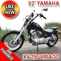 Yamaha Virago 250cc Motorcycle For Sale With 4,300 Miles - Yr:2002