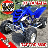 2003 Yamaha Raptor 660r Quad Atv Four Wheeler