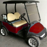 48V Burgundy Club Car Precedent Electric Golf Cart