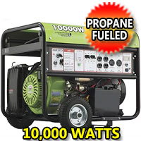 10,000 Watt Propane Generator with Electric Start & Pull Start