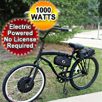 1000 Watt Dewey Electric Bicycle Stretch Street Cruiser Bike - Pre-assembled - Not a Kit