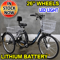 1000W Electric Powered Adult Tricycle Motorized 3 Wheel Trike Scooter Bicycle - Critter SLC