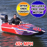 Brand New 10 foot Catamaran Power Speed Boat